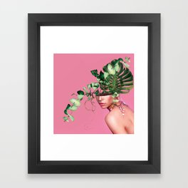 Lady Flowers VI Framed Art Print