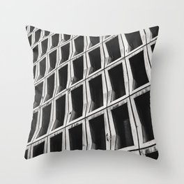 Mesh architecture in beautiful black and white Throw Pillow