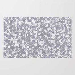 Lilac Gray Pixels Rug