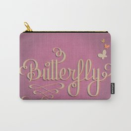 Butterfly Letttering Carry-All Pouch