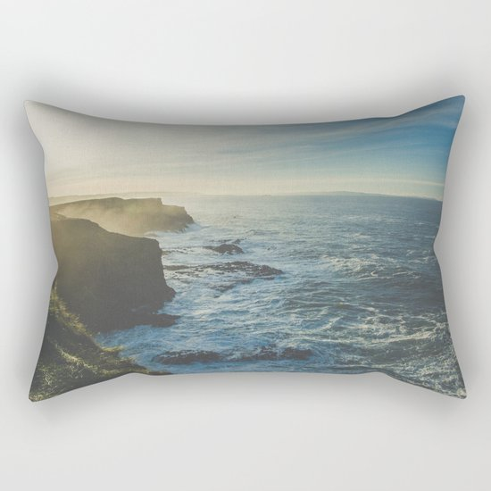 I Will Come Back But First... // Landscape // Edge of Cliff Photography #society6 #art #prints Rectangular Pillow