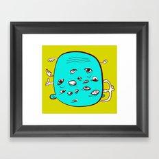 Fluff the Take Framed Art Print