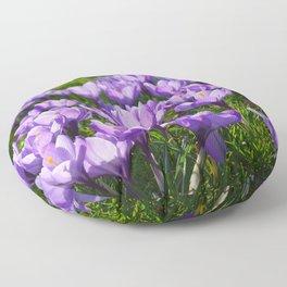 Purple Crocuses Floor Pillow