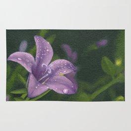 Purple lily flower Rug