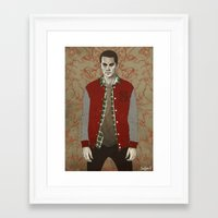stiles Framed Art Prints featuring Stiles Alpha by Sudjino