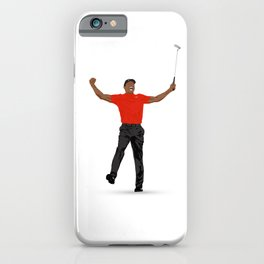 Tiger Woods Masters Champ (White) iPhone Case