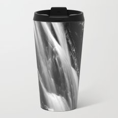 Black and white waterfall in Hell Gorge, Slovenia Travel Mug