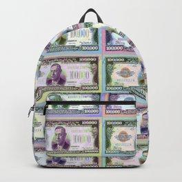 180 Million Dollars Money Bling Cash Dollar Bills Backpack