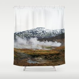 Geothermal Activity Shower Curtain