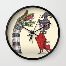 Lydia and the Sandworm Wall Clock
