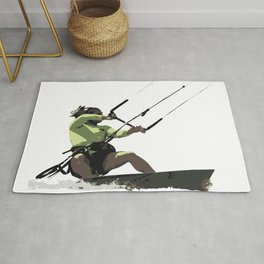 Going With The Wind Kiteboarding Vector Rug