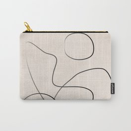 Abstract Line I Carry-All Pouch
