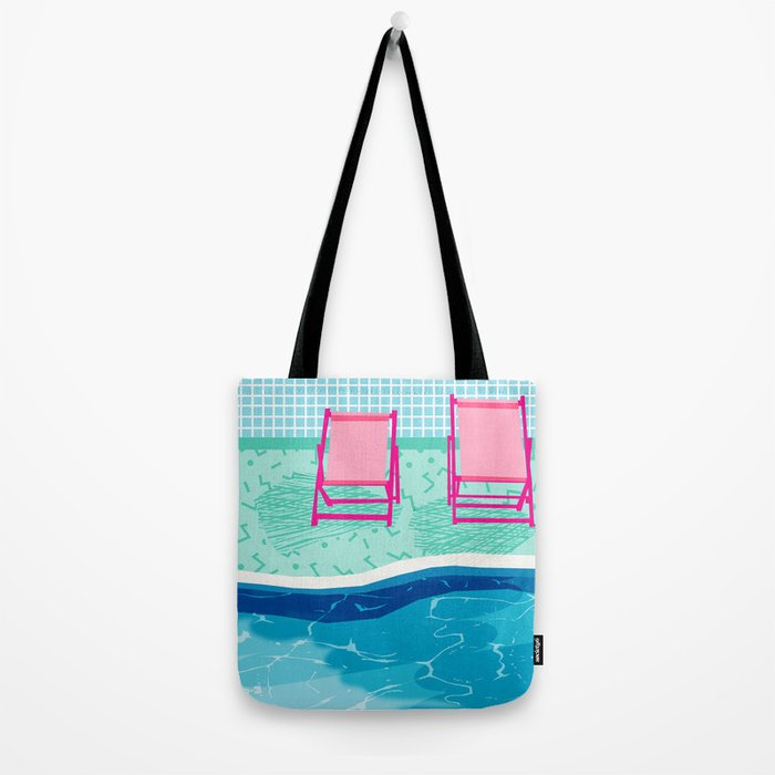 Vay-K - abstract memphis throwback poolside swim team palm springs vacation socal pool hang  Tote Bag