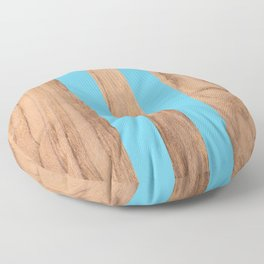 Wood Grain Stripes - Light Blue #807 Floor Pillow