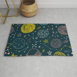 Way Out Space Pattern Rug
