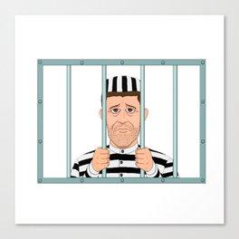 Prison Convict Captive Canvas Print