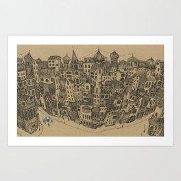 The Rambling City Art Print