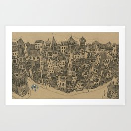The Rambling City Art Print