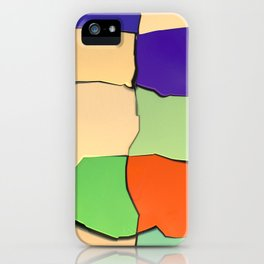 Distorted Color Cubes iPhone Case