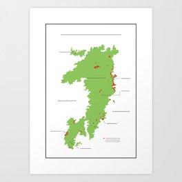 Anzac Map II Art Print