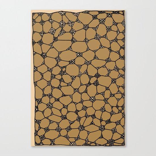 Yzor pattern 006-2 kitai beige Canvas Print