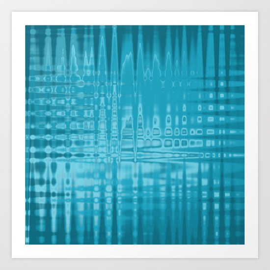 ABSTRACT MADNESS IN BLUE Art Print