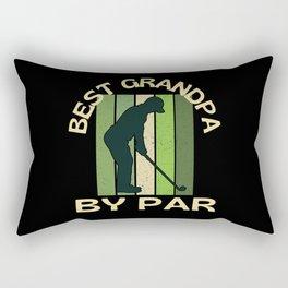Best Grandpa By Par Rectangular Pillow