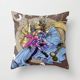 chi in wonderland Throw Pillow