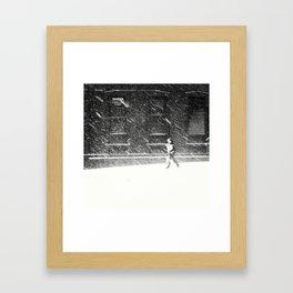 Snow Surfer Framed Art Print