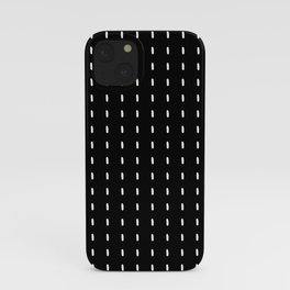 Black pattern with white stripes iPhone Case