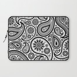 Back and white paisley pattern Laptop Sleeve