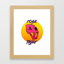 Rose Tiger Framed Art Print