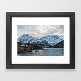 Lofoten winter Framed Art Print
