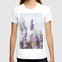 lavender T-shirts featuring Lavender by Julia Dávila-Lampe