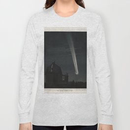 The Trouvelot Astronomical Drawings (1881) - The Great Comet of 1881 Long Sleeve T-shirt