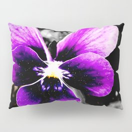 Galactic Pansy Pillow Sham