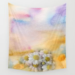 Window Curtains - Watercolour Wall Tapestry