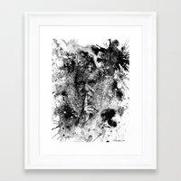 darwin Framed Art Prints featuring Darwin by Psyca