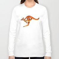 kangaroo Long Sleeve T-shirts featuring Kangaroo by Knot Your World