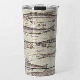 father's day fisherman gifts whitewashed wood lakehouse freshwater fish Travel Mug