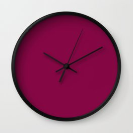 Rose Bud Cherry Colour Wall Clock