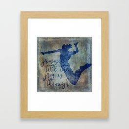 Jammin Till The Jam is Through Framed Art Print