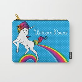 Unicorn Power with Rainbow Carry-All Pouch
