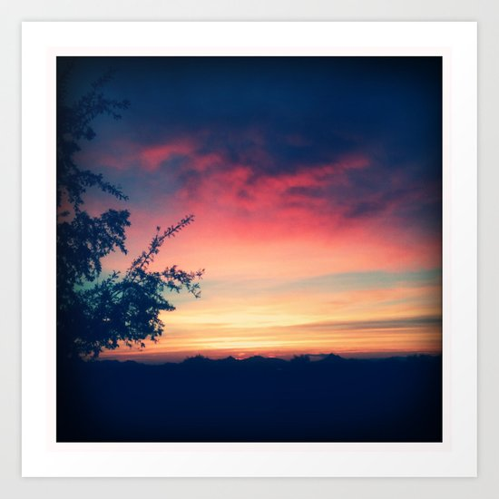 An Arizona Sunset Art Print