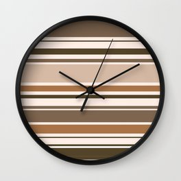 The Perfect Line Collection - Brown on Brown Wall Clock