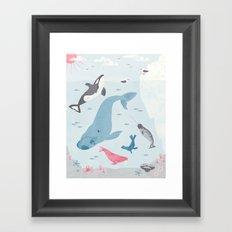 Arctic Neighborhood Framed Art Print