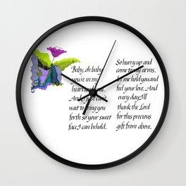 Baby, oh baby Wall Clock