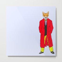 The Fox's Threads Metal Print