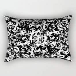 Black and White Abstract Texture Design Rectangular Pillow