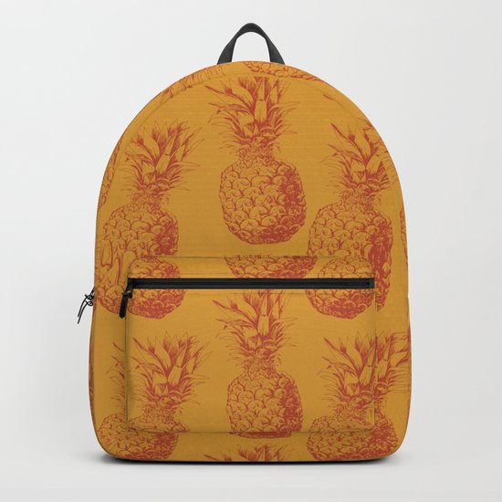 Hand drawn pineapple pattern Backpack
